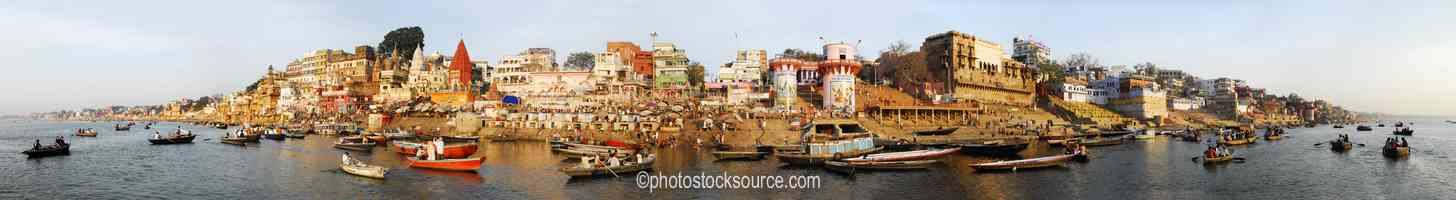 Photo of Boats on Ganges River